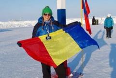 O romanca a castigat medalia de argint la Polul Nord, intr-un maraton la minus 30 de grade
