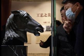 O sculptura furata in urma cu 160 de ani, reprezentand un cap de cal, returnata Vechiului Palat din China