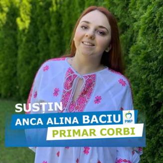 O tanara de 24 de ani, fiica primarului comunei argesene Corbi, a castigat alegerile locale. Tatal sau a candidat, fara succes, la CJ