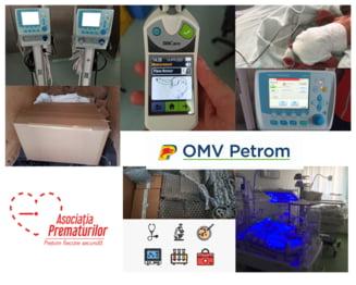 OMV Petrom sprijina Asociatia Prematurilor in echiparea sectiei de neonatalogie a Maternitatii Bacau