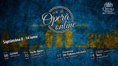 ONB inchide stagiunea cu transmisii online ale spectacolelor Carmen, Frumoasa din Padurea Adormita, Tosca si un episod din seria Vocile Operei