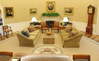Obama a gresit citatele de pe covorul din Biroul Oval