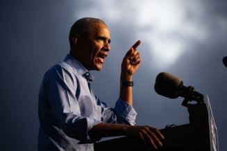 """Obama indeamna, la un miting """"drive in"""" la Philadelphia, la uitarea sondajelor si la mobilizare in favoarea lui Biden"""