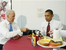 Obama si Biden mananca la fast-food (Video)