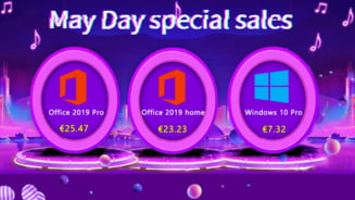 Oferte speciale pentru mai: Windows 10 Pro la 7,32 euro si Office 2019 Pro la 25,47 euro