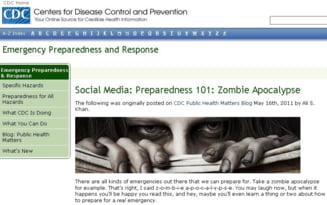 """Oficialii americani publica sfaturi de supravietuire in caz de """"apocalipsa zombie"""""""