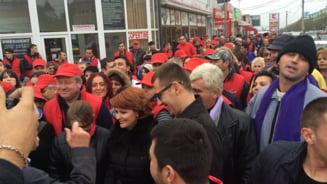 "Olguta Vasilescu si Striblea, contre in direct pe tema protestelor: ""Nu au ce sa caute in strada in campanie!"" vs. ""O rusine!"""