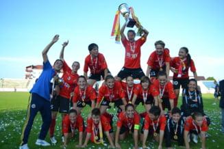 Olimpia Cluj defileaza in campionatul de fotbal feminin