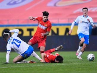 """Oltenii au """"uitat"""" sa iasa de la vestiare, iar FCSB a fost singura pe teren in repriza a doua a meciului de pe """"Ion Oblemenco"""""""