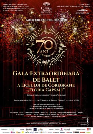 "Opera Nationala Bucuresti prezinta Gala Extraordinara de Balet a Liceului de Coregrafie ""Floria Capsali"""
