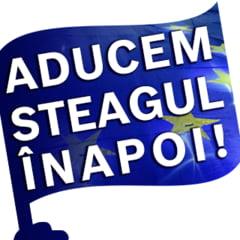 """Operatiunea """"Aducem Steagul Inapoi"""": Drapelul UE a fost inmanat premierului Dancila (Video)"""