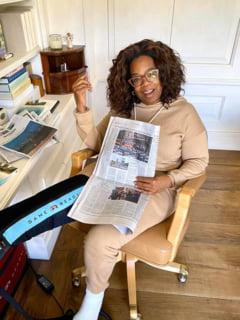Oprah Winfrey a cazut pe scena fix cand vorbea despre echilibru