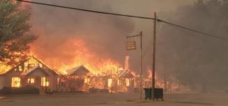 Oraș din California devastat de incendii. Greenville a fost evacuat de autorități VIDEO