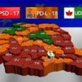 PD-L a castigat alegerile in 18 judete, PSD in 17