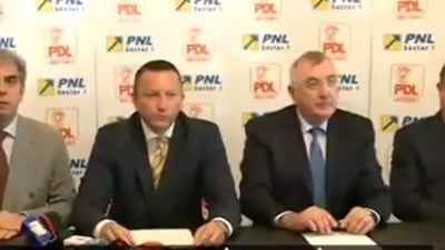 PDL si PNL au semnat primul protocol in Capitala: Fuziunea se face daca renuntam la orgolii