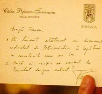 PMP reinvie cazul biletelului roz: Denunt penal pe numele lui Tariceanu