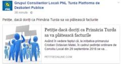PNL Turda o da in populism: Vreti ca Primaria sa va plateasca facturile?!
