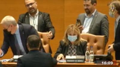 PNL a depus o sesizare la Camera Deputaților împotriva parlamentarilor AUR care l-au bruscat pe Florin Roman la citirea moțiunii de cenzură