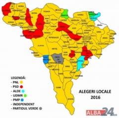 PNL castiga Consiliul Judetean cu peste 60% si obtine 58 de primarii. PSD are 13 primarii, ALDE si UDMR cate doua, iar PMP are o primarie