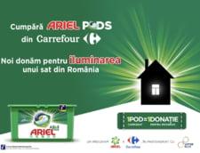 POD cu POD luminezi o casa - o campanie Ariel si Carrefour, in parteneriat cu ViitorPlus