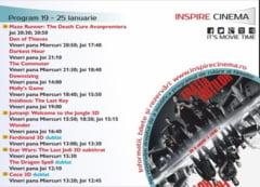 PROGRAM Inspire Cinema Alba Iulia. Ce filme vor rula in perioada 19 - 25 ianuarie 2018