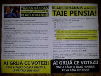 PSD si Posta Romana, acuzati ca trimit pensionarilor pliante anti-Iohannis