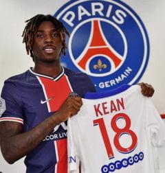 PSG a inceput negocierile cu Everton pentru transferul defintiv al atacantului Moise Kean