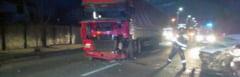 PUCIOASA: Accident rutier cu o victima ranita grav