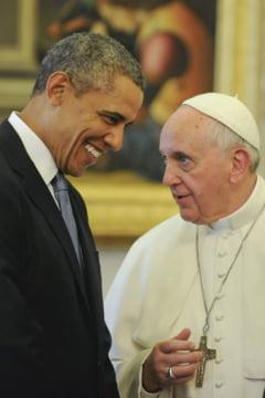 Papa, vizita istorica in SUA: Gest neobisnuit din partea lui Obama