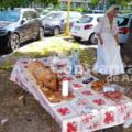 Paranghelie cu purcel la proțap în fața unui hotel din Mamaia