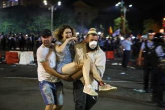 Parchetul General publica lista cu gazele si munitia folosite de jandarmi la protest. Ultimele date din ancheta