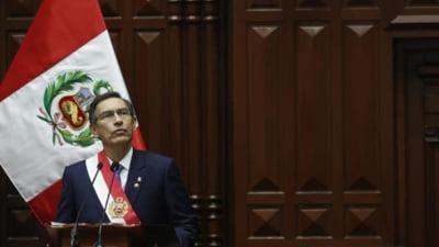 Parlamentul din Peru a votat pentru declansarea procedurii de destituire a presedintelui tarii