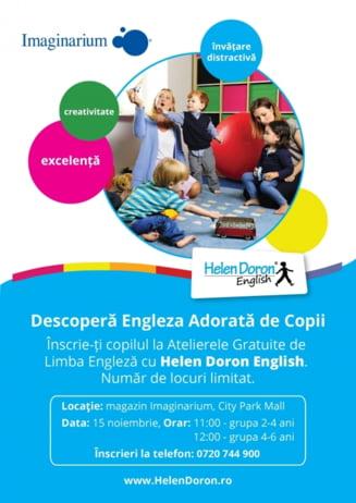 Parteneriat pentru educatie: Ateliere gratuite de limba engleza pentru copii