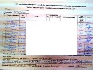 Partidul cu care Laszlo Tokes vrea sa dezintegreze Romania si-a falsificat listele cu semnaturile de adeziune