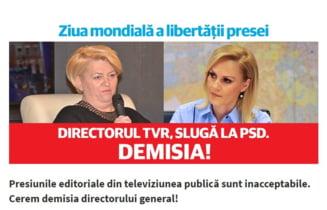 Partidul lui Ciolos si USR cer impreuna demiterea sefei TVR: Considera ca jurnalistii trebuie sa fie recunoscatori PSD