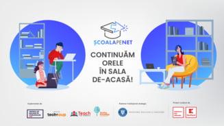Patru ONG-uri se unesc si dezvolta in doar 5 zile o platforma de suport tehnic si educational pentru profesorii din Romania
