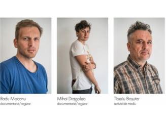 Patru barbati au fost retinuti in urma agresarii a doi jurnalisti si a unui activist de mediu