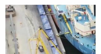 Patru marinari egipteni retinuti cu focuri de arma in portul Constanta. Au incercat sa le vanda politistilor tigari de contrabanda VIDEO