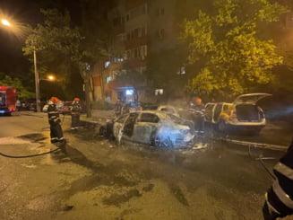 Patru masini au fost facute scrum, in Capitala. Inca nu se stie de la ce ar fi pornit totul VIDEO/FOTO
