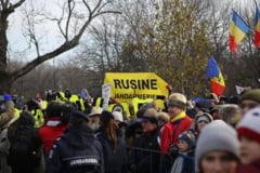 Patru protestatari #Rezist, ridicati de jandarmi. Au primit amenda de 200 lei si avertismente