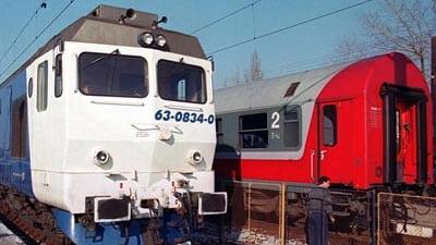 Patru trenuri blocate in gari din cauza unui copac rupt de vant