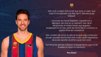 Pau Gasol s-a intors la Barcelona dupa 20 de ani