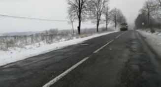 Pe autostrazile A2 si A4 s-a depus zapada si se circula in conditii de iarna