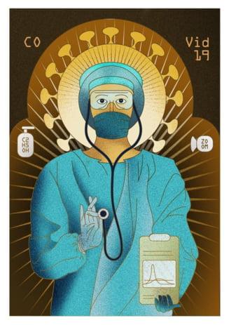 Pe cine au deranjat panourile din Bucuresti cu medici reprezentati ca sfinti? Creatorii au acceptat sa le retraga