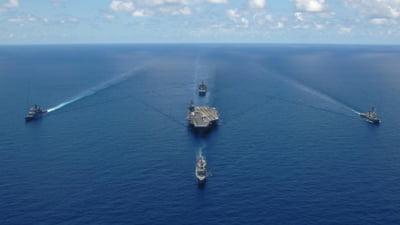 Pentagonul a anuntat ca grupul portavionului USS Theodore Roosevelt a intrat in Marea Chinei de Sud