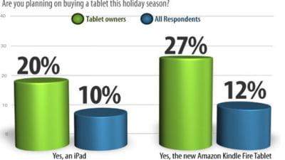 Pentru Craciun se anunta competitie stransa intre Kindle Fire si iPad