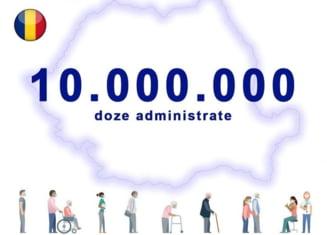 Peste 10 milioane de doze de vaccin anti-COVID-19 administrate în România
