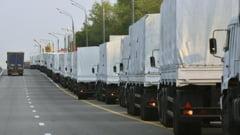 Peste 170 de camioane rusesti cu ajutoare umanitare au ajuns in estul Ucrainei
