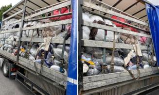 Peste 180 tone de deseuri oprite la intrarea in Romania. Au fost incarcate in Germania, Anglia,Turcia si Grecia VIDEO