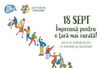 """Peste 200 de voluntari participa sambata la Roman la """"Ziua de Curatenie Nationala"""""""